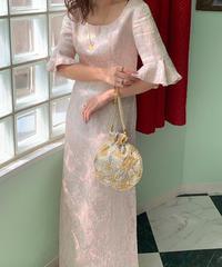 1970年代ヴィンテージ  ジャガード ドレス