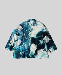 [ 感覚ピエロ × macromauro × VUy ] original classic shirt [ PAINT BLUE ]