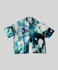 [ 感覚ピエロ × macromauro × VUy ] original dolman shirt [ PAINT BLUE ]
