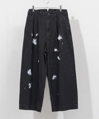 my beautiful landlet -  WIDE STRAIGHT TROUSERS [ CHARCOAL ]