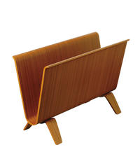 MAGAZINE RACK teak grain