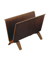 MAGAZINE RACK walnut