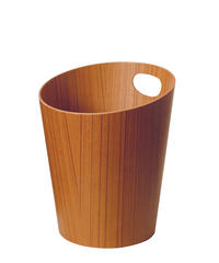 BASKET with handle / teak grain