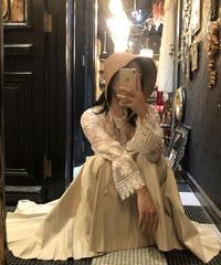 【pour Mademoiselle】フレアスリーブ刺繍ブラウス ホワイト