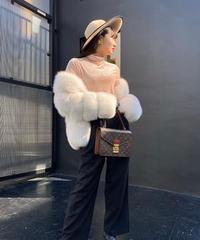 【pour Mademoiselle】タックワイドパンツ ブラック/2サイズ