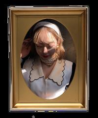 【pour Mademoiselle】ドットシフォンスカーフ ホワイト