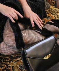 【pour Mademoiselle】オプションミンクファーハンドル ブラック
