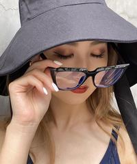 【pour Mademoiselle】キャットアイフェイクメガネ ブラック