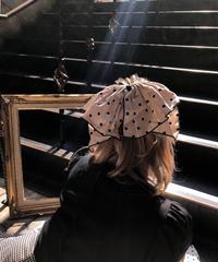 【pour Mademoiselle】ドットリボンバレッタ ベージュ