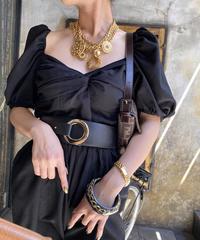 【pour Mademoiselle】リングゴムベルト ブラック