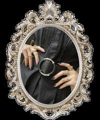 【pour Mademoiselle】スエードリングゴムベルト ブラック/シルバー