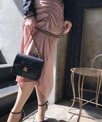 【pour Mademoiselle】シャーリングタイトスカート ベージュ