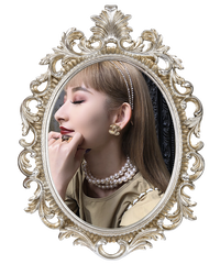 【CHANEL】マトラッセステッチココマークイヤリング