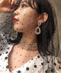 【pour Mademoiselle】デザインラインストーンチョーカー