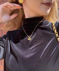 【DIOR】 ロゴプレートネックレス