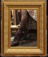 【pour Mademoiselle】ミニリボンストッキング ブラック