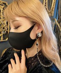 【pour Mademoiselle】ビジューマスクメガネチェーン ブラック