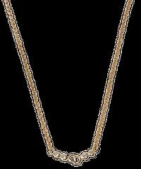 【Dior】ラインストーンロゴプレートネックレス