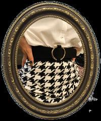 【pour Mademoiselle】スエードリングゴムベルト ブラック