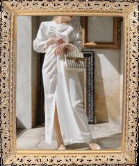 【pour Mademoiselle】デザインワンピース ホワイト