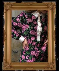 【pour Mademoiselle】フラワーレースカラーワンピース ピンク