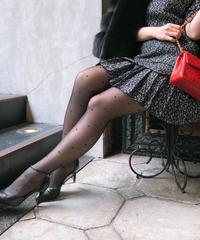 【pour Mademoiselle】ハートストッキング ブラック
