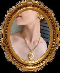 【CHANEL】ダイヤモチーフココマークプレートネックレス