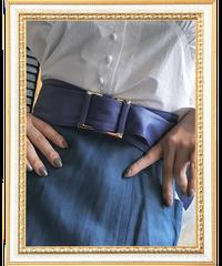 【pour Mademoiselle】デザインバックルベルト パープル