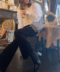 【pour Mademoiselle】コーデュロイパンツ ブラック