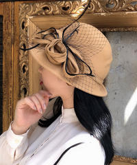 【pour Mademoiselle】チロリアンハット ベージュ