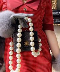 【pour Mademoiselle】ビッグパールオプションチェーンショルダー