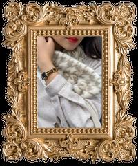 【pour Mademoiselle】千鳥格子ファーティペット ベージュ