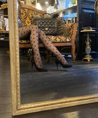 【pour Mademoiselle】ドットストッキング ブラック