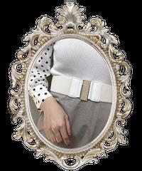【pour Mademoiselle】パールバックルベルト ホワイト