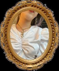 【VINTAGE】ラインストーンパールフリンジネックレス