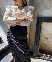 【pour Mademoiselle】バイカラードッキングワンピース アイボリー