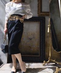 【CHANEL】ココマークボタンタイトスカート ブラック