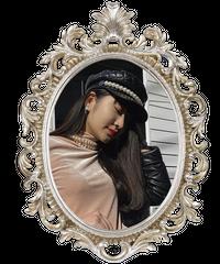 【pour Mademoiselle】キルティングレザーパールキャスケット ブラック