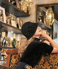 【pour Mademoiselle】チロリアンハット ブラック