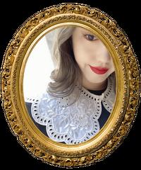 【pour Mademoiselle】刺繍スカラップ付け襟 ホワイト