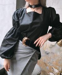 【pour Mademoiselle】アームシャーリングバックリボンプルオーバー ブラック