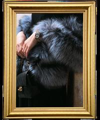 【pour Mademoiselle】リアルフォックスファーポケットストール ブラック