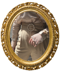 【pour Mademoiselle】ビジューバックルレザーベルト ベージュ