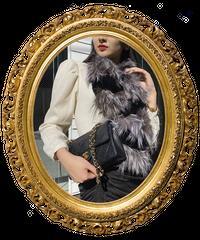 【pour Mademoiselle】レッキスラビットファーマフラー ブラック