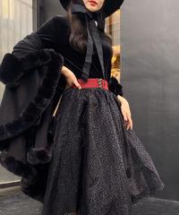 【pour Mademoiselle】デザインバックルベルト レッド