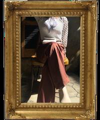 【pour Mademoiselle】センタープレスパンツ ブラウン