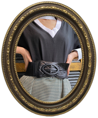 【pour Mademoiselle】リボンゴムベルト ブラック