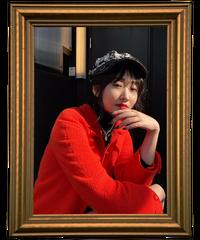 【pour Mademoiselle】ツイードチェックキャスケット アイボリー