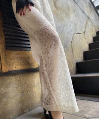 【pour Mademoiselle】フラワーレースパンツ ホワイト