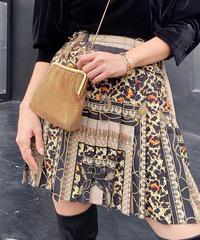 【pour Mademoiselle】デザインパターンプリーツスカート